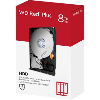 8TB Western Digital WD Red Plus WD80EFAX 5400rpm 256MB