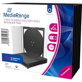 CD Leerbox MediaRange  5pcs Double JewelCase retail