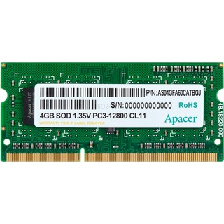 Apacer S3 4GB 1600-11  512x8 1R 1,35V    APACER