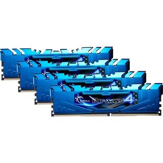32GB (4x 8GB) G.Skill DDR4-2800 CL15 RipJaws 4 blau
