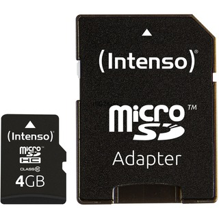 SD MicroSD Card  4GB Intenso Class10 inkl. SD Adapter