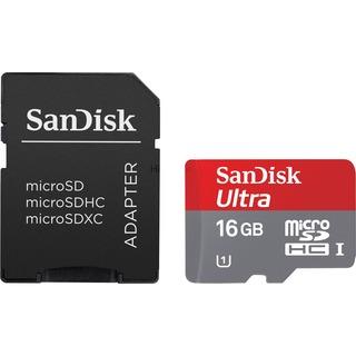 Sandisk Ultra microSDHC 16 GB, Speicherkarte Class 10,