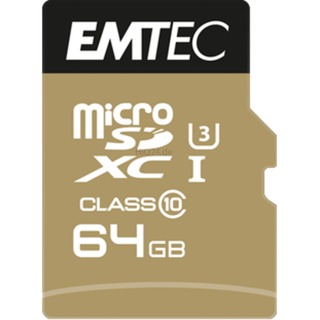 Emtec microSD 64GB   +1Ad    Cl10USH-1  U3 ETC Class 10,