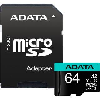 ADATA microSD  64GB Prem Pro UHS-I  U3 | + Adapter