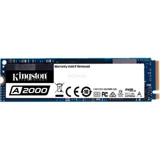 250 GB Kingston SSD  1.1/2.0 A2000         M.2 KIN NVM