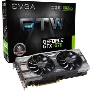 EVGA GTX 1070 FTW Gaming ACX 3.0   8GB DDR5 DVI HDMI 3xDP