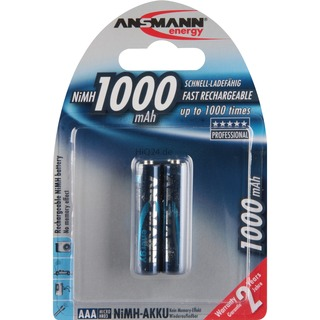Ansmann 1000mAh NiMh Professional  Akku AAA (Micro)