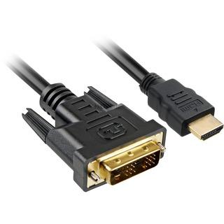 Kabel Sharkoon HDMI  -> DVI-D (18+1) 3m schwarz