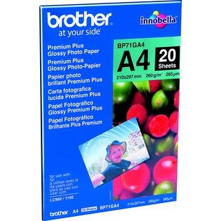 Brother BP71GA4 A4, 20 Blatt, 260 g/m², glänzend Fotopapier