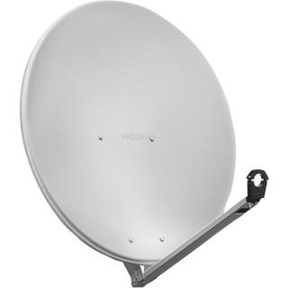 Goobay SAT Spiegel 80er hellgrau, ALU 80 cm Alu-Satellitensp