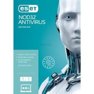 ESET NOD32 Antivirus 2019         1U FFP 1 Jahr,