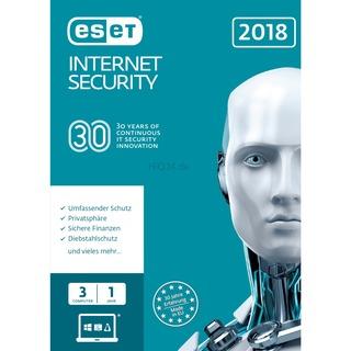 ESET Internet Security 2018       3U FFP 1 Jahr,