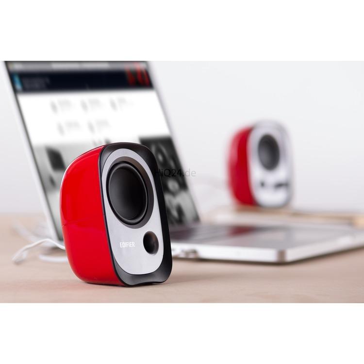 Edifier R12U RD USB-Lautsprecherset Bassreflex-Port Kopfh/öreranschluss Integrierter Lautst/ärkeregler Rot
