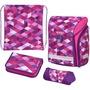 Herlitz Herl Ranzen Midi Plus Pink Cubes  Ranzen - Schule
