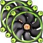 Thermaltake TT Riing 12 LED Green 3er Set 120x120x25 | 3er